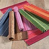 100% algodón de comercio justo alfombras. estas alfombra está hecha de algodón 100% en la India sobre una base de comercio justo. la alfombra está tejida en telares utilizando técnicas tradicionales. estos alfombra característica un surtido de llamat...