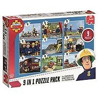 Jumbo 19282 Fireman Sam 9 in 1 Puzzle Pack, Multi