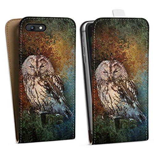 Apple iPhone X Silikon Hülle Case Schutzhülle Eule Wald Kauz Downflip Tasche weiß