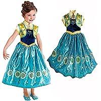 I fan di Arendelle possono trasformarsi nella loro principessa preferita con questo costume di Anna ispirato a Frozen Fever. Il costume è composto da un corpetto fantasia, una gonna in raso con motivo di girasoli luccicanti e gilet in raso. ...