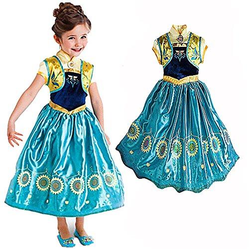 Ducomi® Prinzessin - Kleine Mädchen Dressup Fantastisches Kostüm - Perfekt für Party, Halloween, Karneval und Geburtstagsgeschenk (Sonnenblume, 120cm)