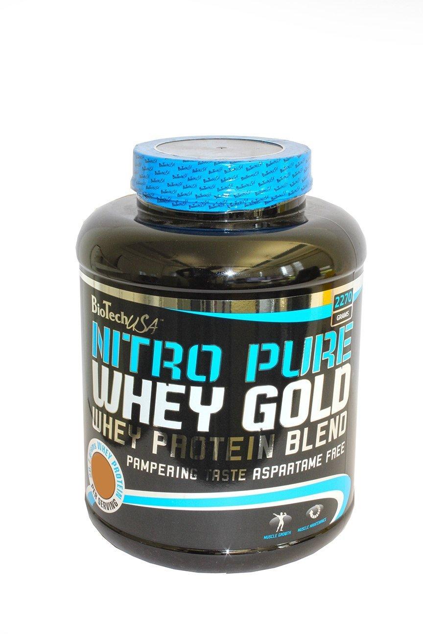 BioTech USA Nitro Siero Gold Acida Cherry Yogurt, 1 Pacco (1 x 2.27 kg)
