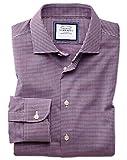 Bügelfreies Extra Slim Fit Business-Casual Hemd in Rot und Bunt mit modernen Strukturen Knopfmanschette
