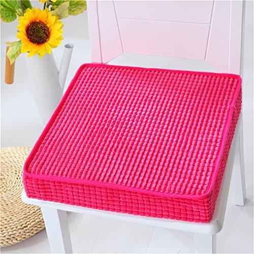 Vancore-mousse–mmoire-de-forme-galettes-de-chaise-Coussinets-pour-HomeOffice-antidrapantsouple-ponge-rose-rouge-45-x-45-cm