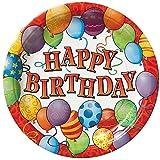 18cm Geburtstag Luftballons Party Teller, 8Stück