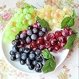 4pcs Vert jaune Rouge vin artificiel Noir Haute Simulation raisins, faux Faux raisins de fruits, DE CUISINE, d'office et photographies