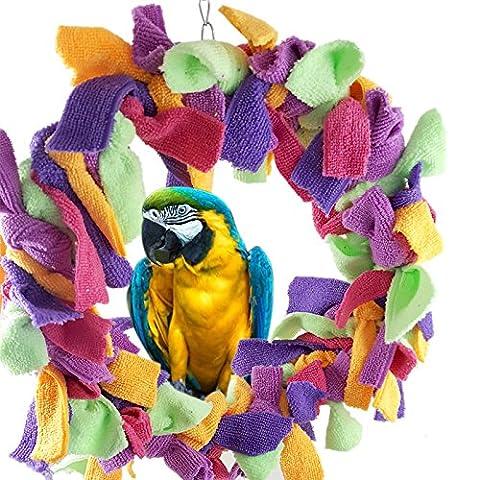 Cotton Seil Vogelspielzeug Die Ringe-Station Non-Toxic Chew Schaukel Papagei Spielzeug Große Papageien