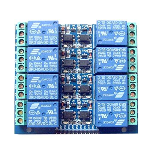 Kanal-koppler (Fornateu 5V 10A 8-Kanal-Relaismodul 8-Kanal-Relay Control Board mit Pptocoupler Ausgang 8 Way-Modul-Brett)