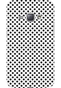 AMEZ designer printed 3d premium high quality back case cover for Samsung Galaxy J1 2016 SM-J120F (polka dots)