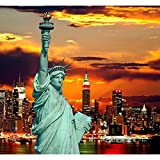 #10: Pitaara Box The Statue Of Liberty And New York City Skylines, USA - SMALL Size 15.1 inch x 14.0 inch - FRAMED CANVAS Wall Paintings with 6mm (0.24 inch) THICK MDF MOUNTING FRAME : DIGITAL PRINT Wall Posters Art Panel like Hand Paintings : Home Interior Wall Décor Photo Gifts & Decorative Paintings for Bedroom, Living Room, Drawing, Dining Room, Kitchen, Office, Reception, Bathroom, Outdoor, Gallery, Hotels, Restaurants, & Balcony : Places : Photography