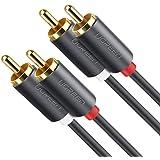 UGREEN Cable de Audio RCA, Cable 2 RCA a 2 RCA con HiFi Estéreo Sonido, RCA Cable Compatible con Amplificador, Subwoofer del