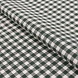 Stoff Meterware, Karo 5x5 mm, Dunkelgrün Weiß, Baumwolle,