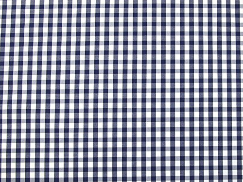 5mm kariert drucken Polyester & Baumwolle Shirting Kleid Stoff, Marineblau, Meterware Shirting Kleid