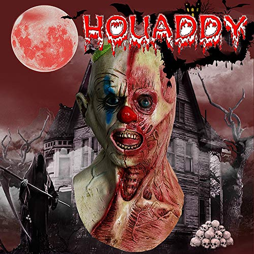 HOUADDY Kostüm Party Dress Up Realistische Latex Maske Horror Böse Zombie Kopf Maske Festival Party Supplies Zombie Maske Schreckliche Maske für Masquerade Bar (Beängstigende Kürbis Kopf Kostüm)