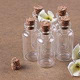 Musuntas 8 x 10ml Mini Glasfläschchen mit Korkverschluss / kleine Glasflaschen / Mini Flasche / Mini Fläschchen mit Korken 22x50mm -