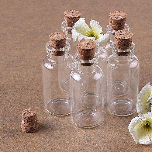 (Musuntas 8 x 10ml Mini Glasfläschchen mit Korkverschluss / kleine Glasflaschen / Mini Flasche / Mini Fläschchen mit Korken 22x50mm)