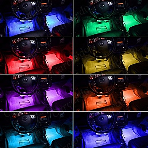 cgt rally 4 in 1 music controller car interior rgb led strip light lamp with remote. Black Bedroom Furniture Sets. Home Design Ideas