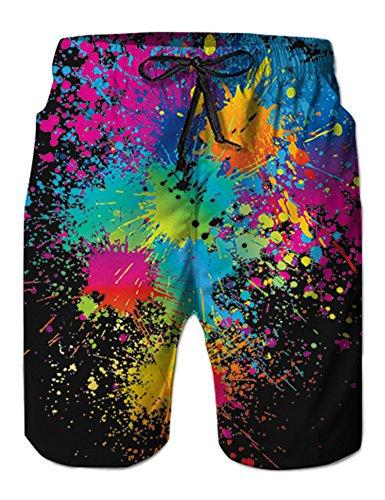 NEWISTAR Junge Shorts 3D Druck Kurze Hose Badehose Jogginghose Joggers XL