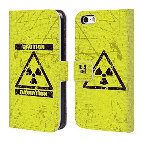 Head Case Designs Marienkäfer Muster Verschiedene Designs Brieftasche Handyhülle aus Leder für Apple iPhone 5 / 5s / SE Strahlung