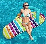 LQY Pantoffel-Sich Hin- und Herbewegende Reihen-Strand-Aufblasbare Wassermatratze Spielt Sich Hin- und Herbewegende Bett-Floss-Swimmingpool-Floss-Matratze