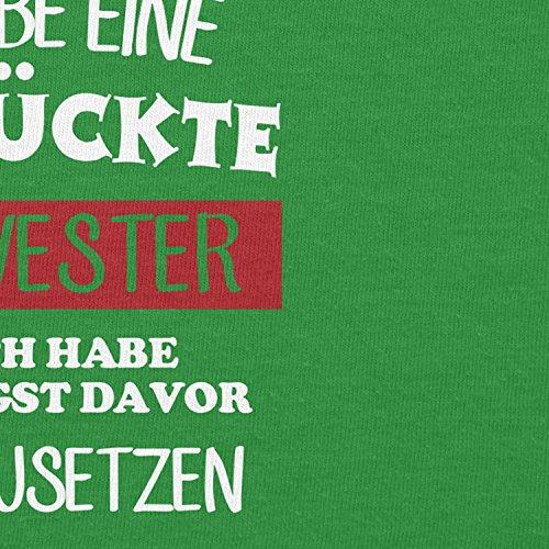 TEXLAB - Hau ab! Ich habe eine verrückte Schwester - Herren Kapuzenpullover Grün