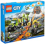 LEGO 60124 City In/Out Volcano Exploration Base Construction Set