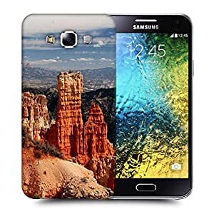 Snoogg Hill Climb Mountain Printed Protective Phone Back Case Cover ForSamsung Galaxy E5