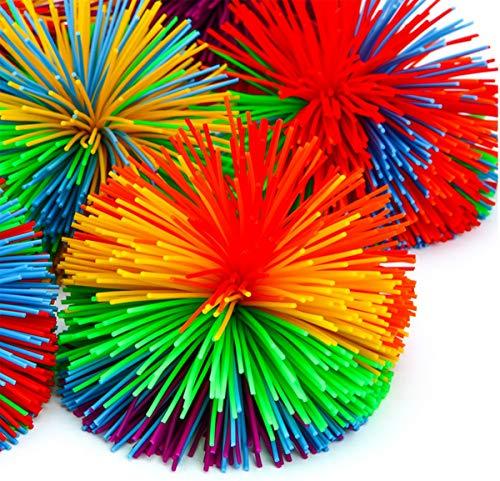 6PCS Antistressball Liuer Dekompression Squishy Spielzeug Stressbälle Griffbälle Hand Stressabbau Handtrainer Knetball Fingergymnastik-Ball Lindert Gelenkschmerzen für Kinder Erwachsene Mädchen Jungen - Stress-bälle Emojis