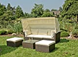 Gravidus gemütliches Lounge-Sofa mit Hockern und Tisch
