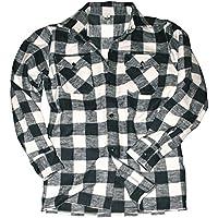 Mil-Tec - Camicia in stile boscaiolo, colore: Rosso/nero, Nero (Nero/Bianco), XXXL