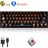 Tastiera Bluetooth Wireless Urchoiceltd® RK61 Retroilluminazione USB Ergonomica Dual Mode Ricarica Game Wireless…