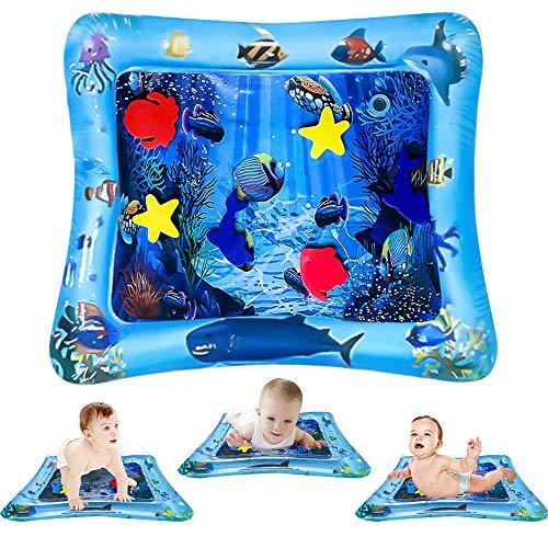 ToyerBee Wassermatte Baby, Spielzeug Wasserspielmatte für 3&6&9&12&18 Monate alte Babys, Kleinkinder, Neugeborene & Kinder, Spielzeug für das Sensorische Zentrum