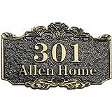 Huisnummer groot huisnummerbordje met wens gravure huisdeurbordje huisnummerbord sticker deurnummer tuinbordje gepersonalisee