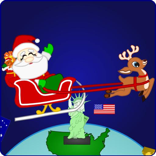 Santa around the world Hd wallpaper -