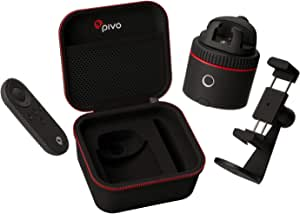 Pivo Starter Pack Red - Foto & Video a 360 con Auto Tracking e Mani Libere - Stream Live - Videochiamate - 12 Effetti Speciali - Cameraman Intelligente - Travel Case - Smart Mount