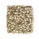 Tisch Holzscheiben für DIY Handwerk Hochzeit Partei Dekor,Rund (Dia.ca 3cm, 50Stck)