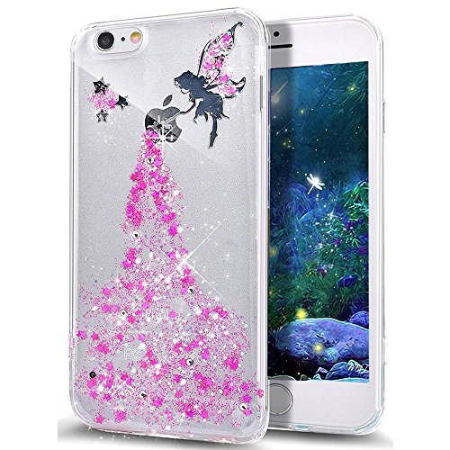 iPhone 8 Plus / 7 Plus 5.5 Zoll Hülle Transparente TPU Silikon Bumper Case Soft Gel Schutzhülle Cover,iPhone 8 Plus 5.5 Zoll Hülle Glitzer Silikon Case für iPhone 7 Plus,iPhone 8 Plus Hülle (5.5 Zoll) Fairy TPU 4
