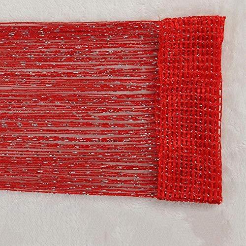 PENVEAT Wohnzimmer-Vorhänge Fadenvorhang Tür-Perlen-Vorhänge für Fenster Schlafzimmer Wohnzimmer Cortinas Salon U0604, rot, 95x195cm