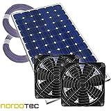 S. Janssen Kit de ventilation solaire double pour serre «Plug & Play» 12V