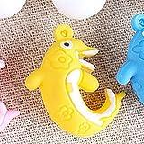 LMKIJN Bella Sospensione galleggiante per acquario Ornamento delfino per acquario (giallo) per l'arredamento della casa