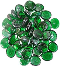 Maalavya 54 Pieces Crystalline and Translucent Shaded Glass Stone for Decorative Aquarium Fish Tank and Substrate Glass Stone Or Pebbles.(Transparent Green Shade Glass)