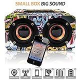 Street Art Tragbarer Bluetooth Lautsprecher- Bluetooth Lautsprecher Mit Bester Tonqualität - Modernes Underground Design- Lange Batterie-Lebenszeit- Drahtloser Anschluss