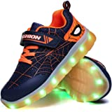 YUNICUS Spider Kid Boys Girls LED Shoes Light Up Trainers Children USB Charging Flashing Low Top Sneakers Best Gift Birthday