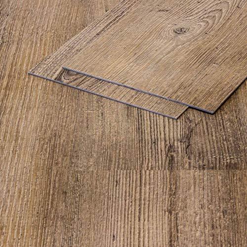 Vinylboden Klebevinyl Sandeiche 911 braun Holzoptik 2,5mm Vinyl Bodenbelag fürs Bad TAMI