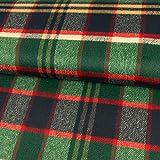 Stoffe Werning Mantelflausch Karo grün blau rot