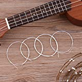 silenceban Juego de 4blanco nailon ukelele Replacemnt cuerdas