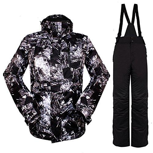 iPretty Unisex Skianzug Skihose Snowboardhose für Damen Herren Outdoorhose wasserdicht atmungsaktiv
