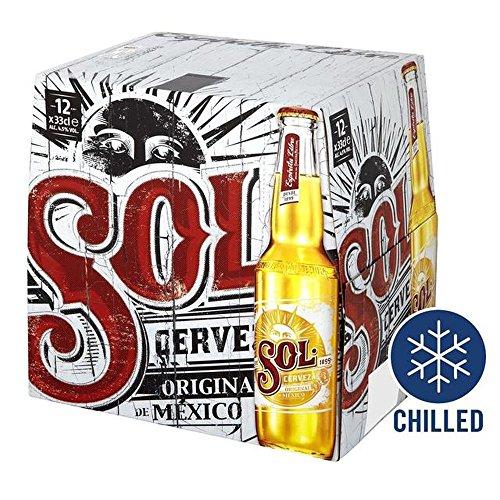 Sol Mexikanisches Bier Zu Ihnen Nach Hause 12 X 330Ml Gekühlt (Bier Zu Hause)