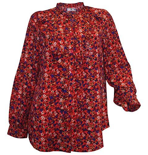 AJC Bedruckte Hemd-Bluse mit Bindeschleife von AJC, in unterschiedlichem Druck-Dessin