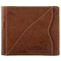 Neoterix Raw Look Brown Genuine Leather Wallet